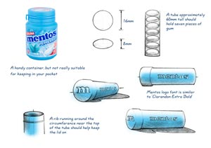 Chewing Gum Holder - initial sketches