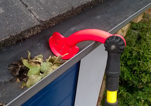 Gutter Cleaner- In Use